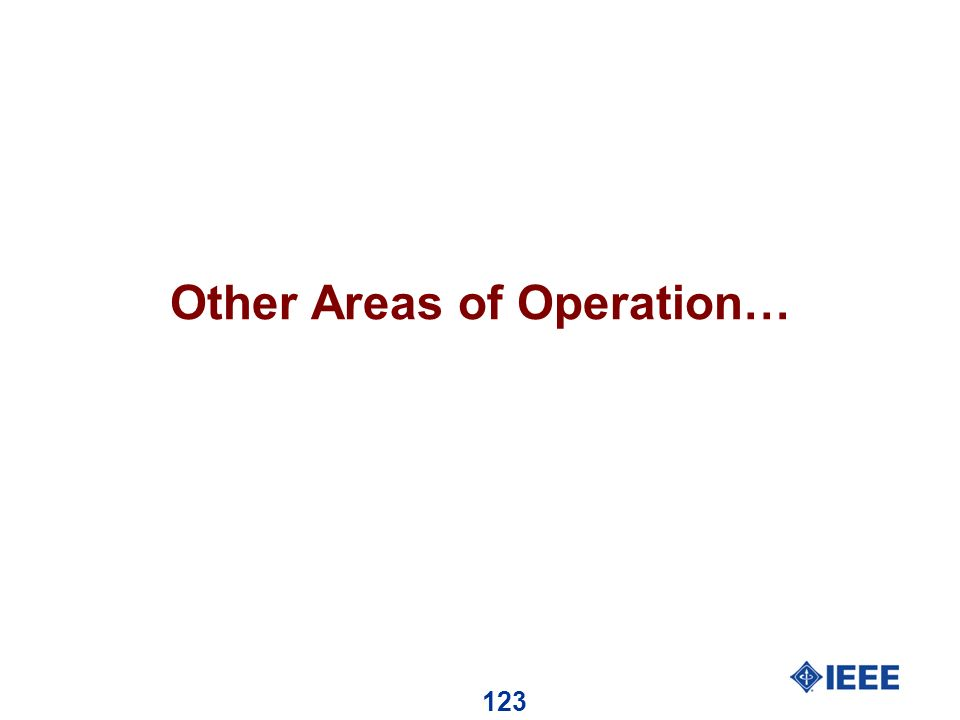 123 Other Areas of Operation…