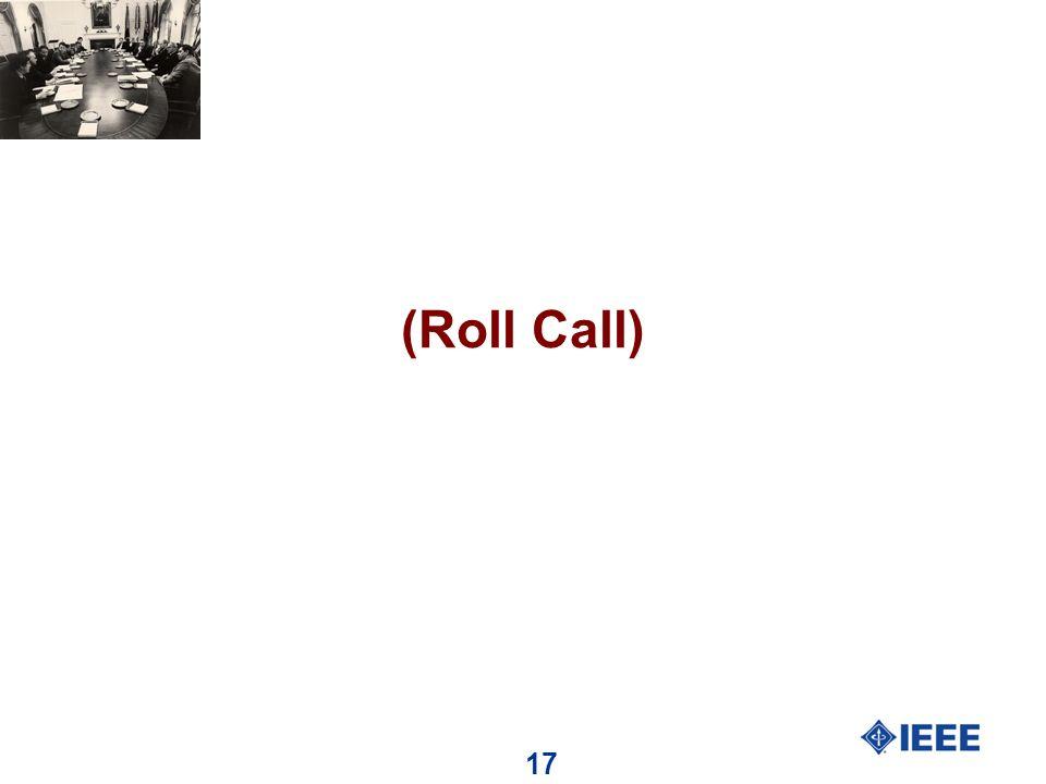 17 (Roll Call)