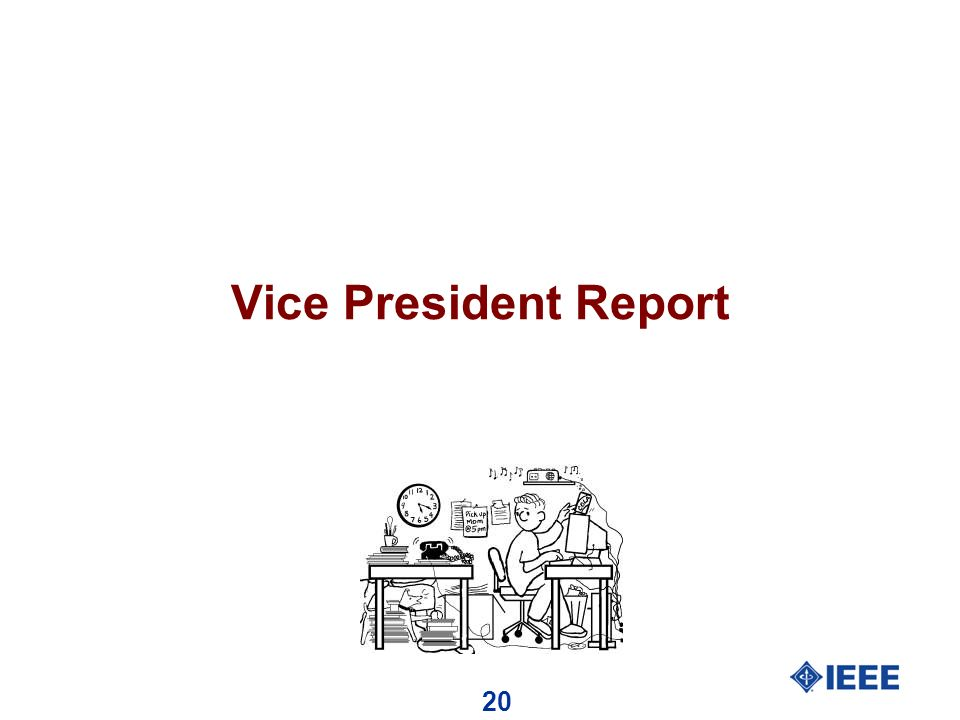 20 Vice President Report