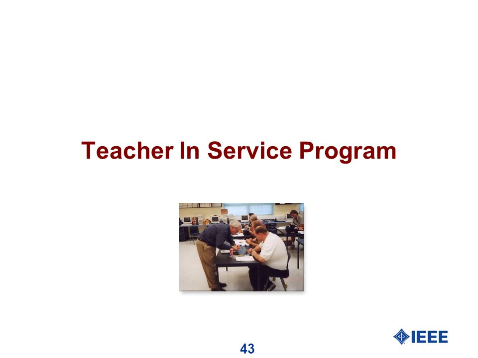 43 Teacher In Service Program