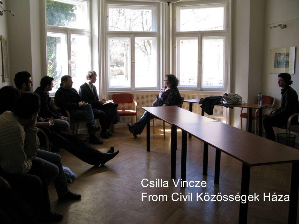 Csilla Vincze From Civil Közösségek Háza