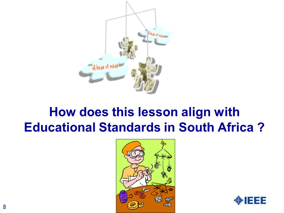 8 How does this lesson align with Educational Standards in South Africa