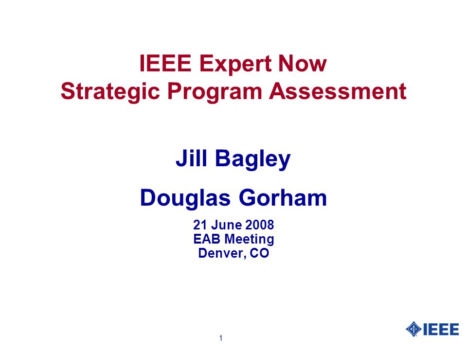 2 IEEE Expert Now Product Definition l Hour-long learning modules developed by leading experts recognized in their fields l Professionally produced, IEEE conference quality education that is accessible to customers world-wide 24 hours a day, 7 days a week l Dynamic interface with audio, animation, engaging graphics, assessment, glossary, and references l Optional CEUs for maintaining professional licensure l Available to Corporations, Government Organizations, Academic Institutions and IEEE Members