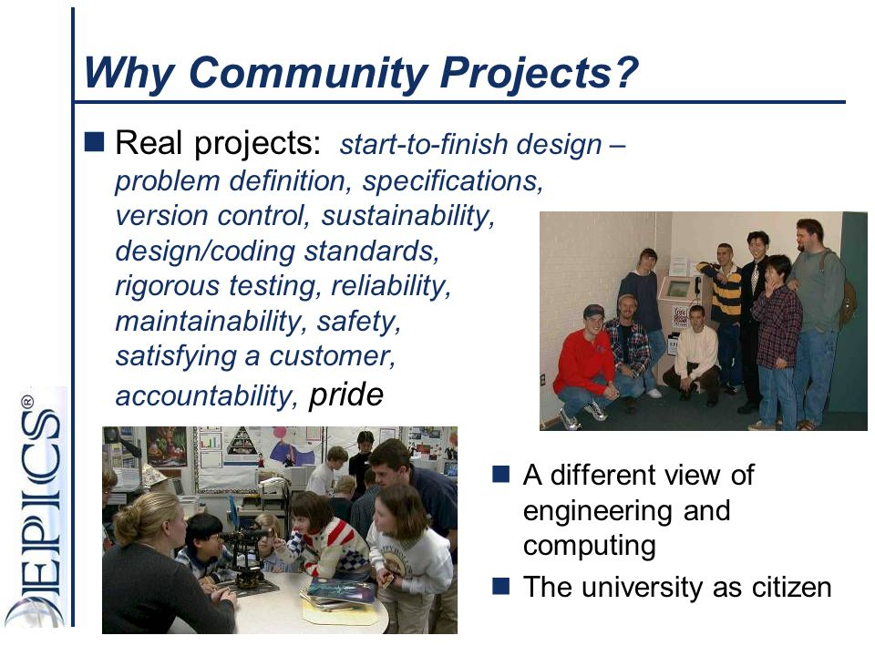 Why Community Projects.