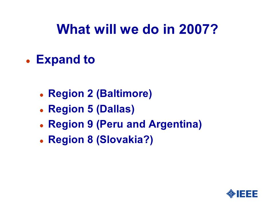 What will we do in 2007.