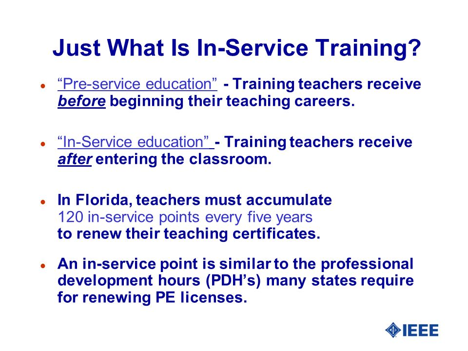 Just What Is In-Service Training.