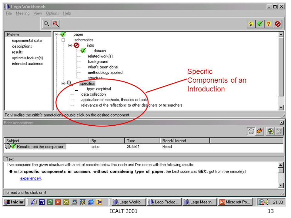 ICALT'200113 Specific Components of an Introduction