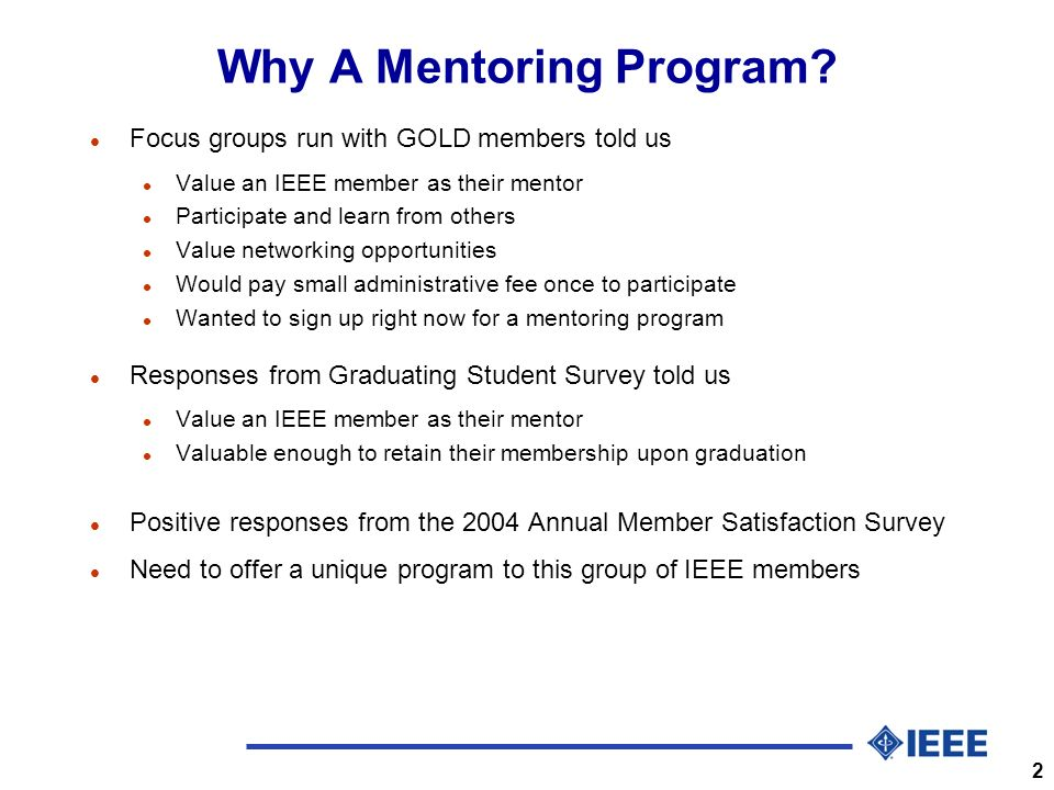 2 Why A Mentoring Program.