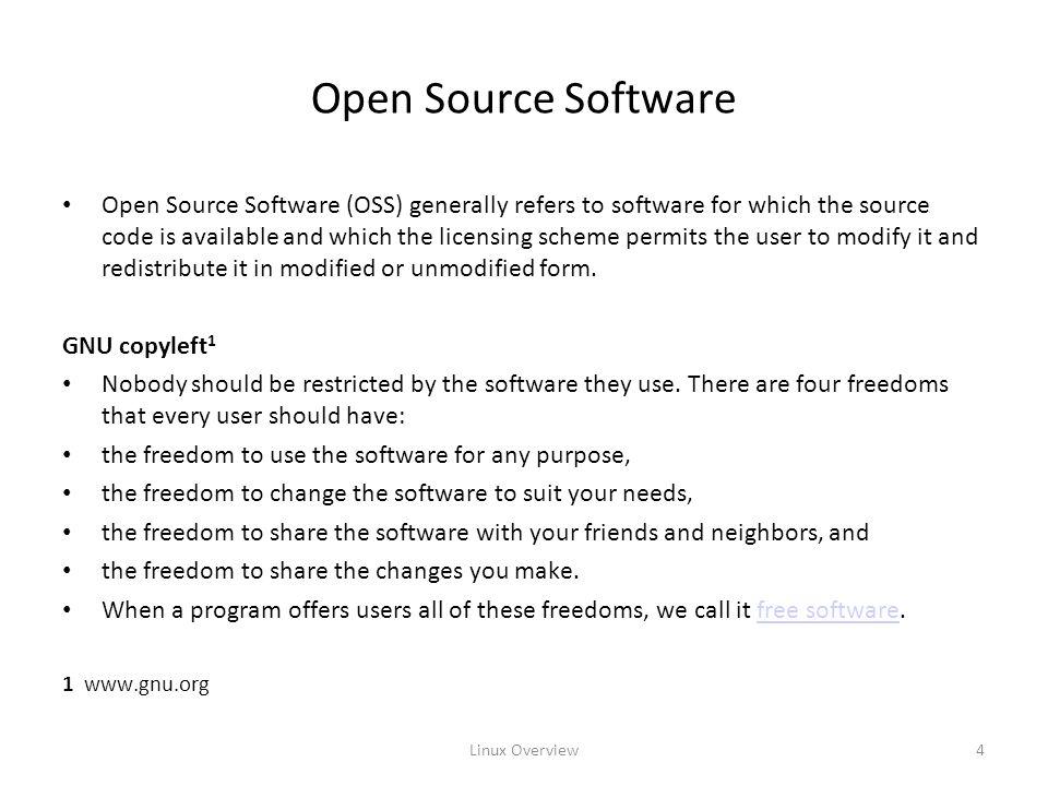 Linux Overview5 Linux Distributions Red Hat (Enterprise) Linux is probably the largest commercial Linux vendor.