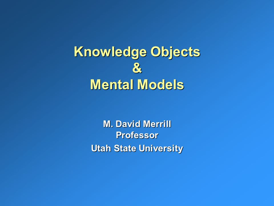 August 2000USU Copyright MERRILL32 Plan Now for 13th Annual Utah State University Instructional Technology Institute August 28 - August 31, 2001 Utah State University Conference Center Instructional Design, Training and Technology: Finding Common Ground