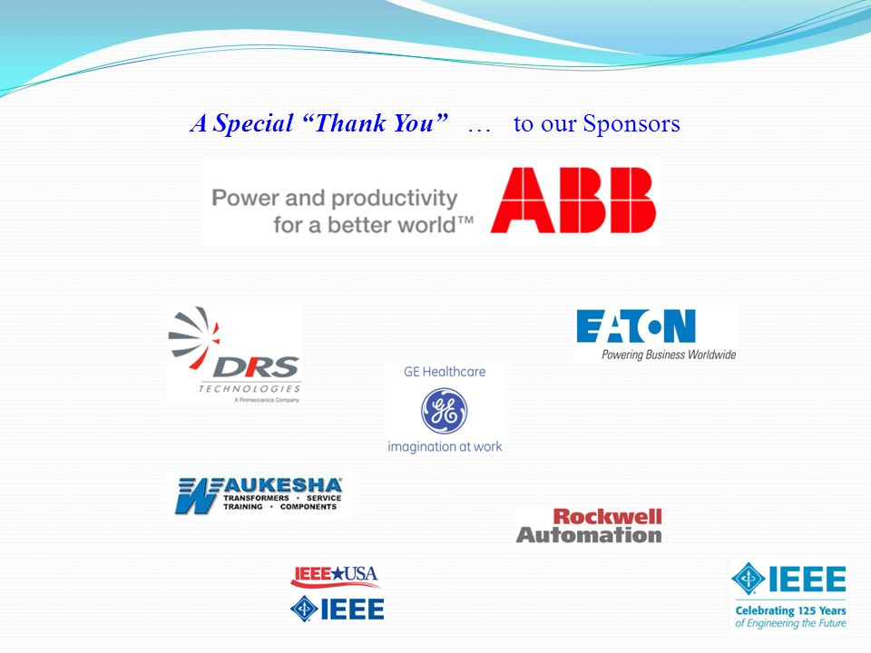 A Special Thank You … to our Sponsors