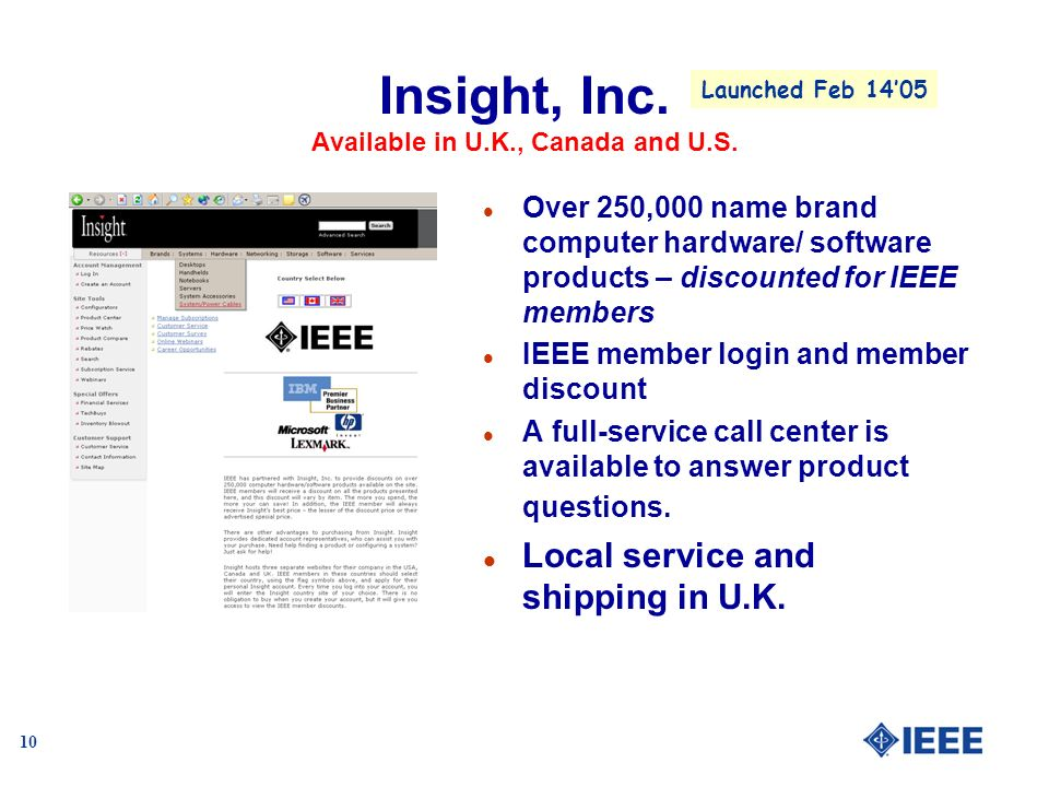 10 Insight, Inc. Available in U.K., Canada and U.S.