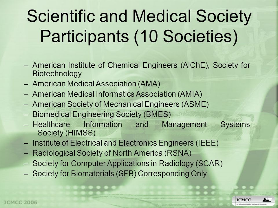 Other Potential Council Members Biomedical Related Societies in Europe and Asia Are Potential Candidates for Our Council (we may also consider Bioelectronics and Nanotechnology)