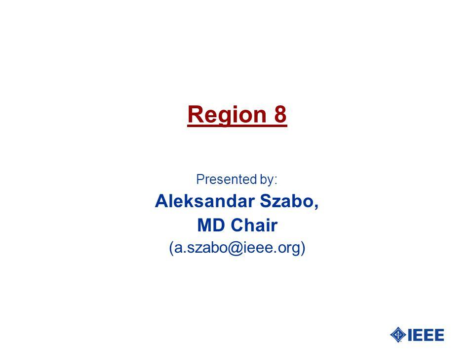 Region 8 Presented by: Aleksandar Szabo, MD Chair (a.szabo@ieee.org)