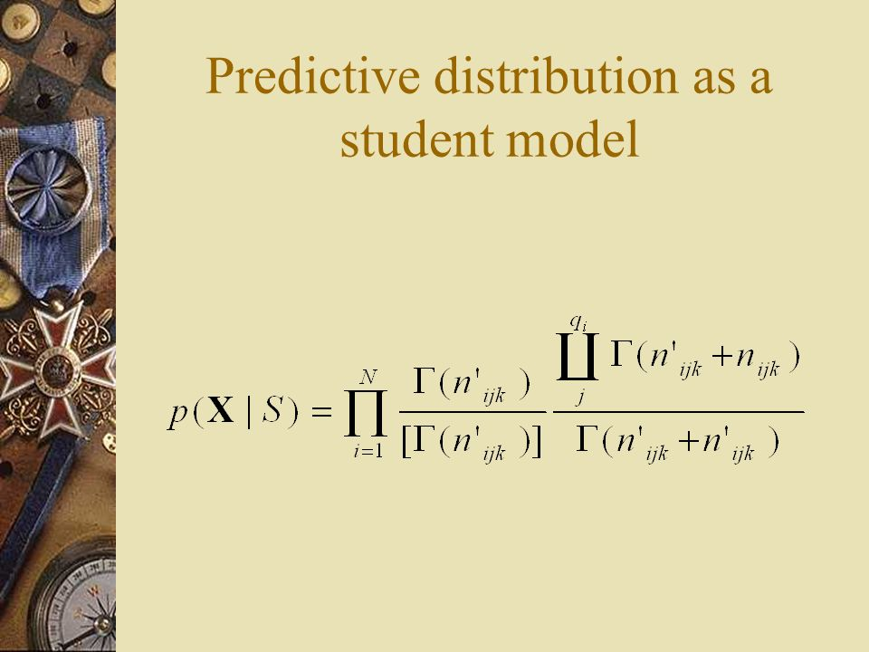 Predictive distribution as a student model