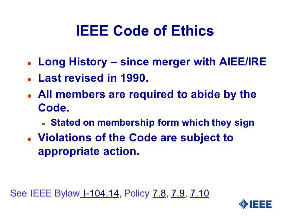 IEEE Enabling Culture Principles l Member No.