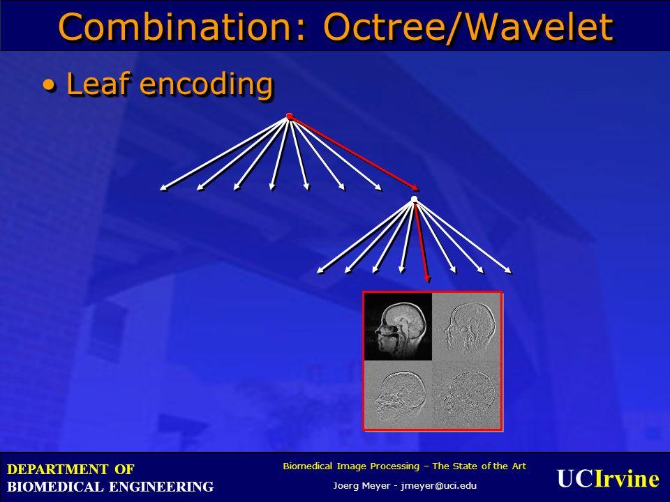 UCIrvine Biomedical Image Processing – The State of the Art Joerg Meyer - jmeyer@uci.edu DEPARTMENT OF BIOMEDICAL ENGINEERING Combination: Octree/Wave