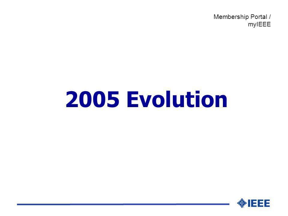 2005 Evolution Membership Portal / myIEEE