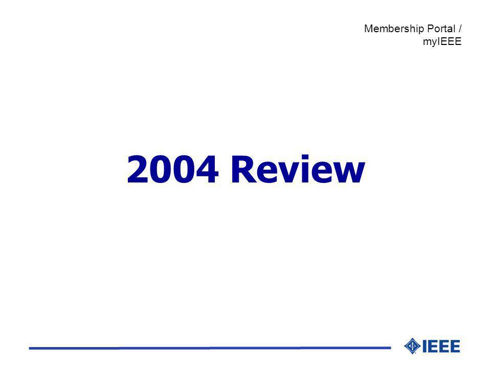 2004 Review Membership Portal / myIEEE