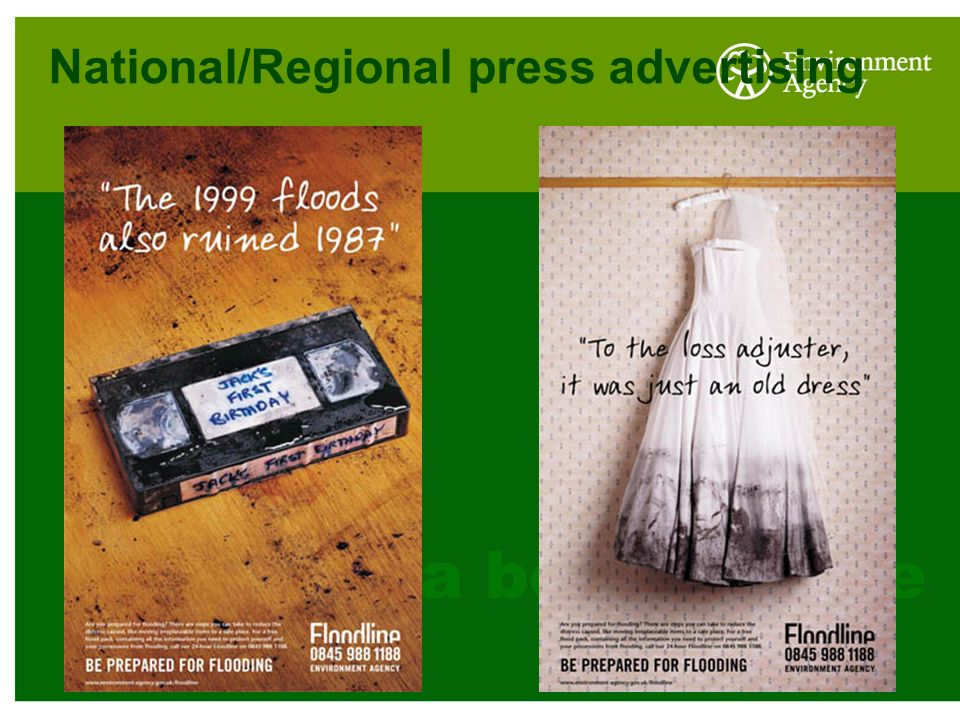 National/Regional press advertising