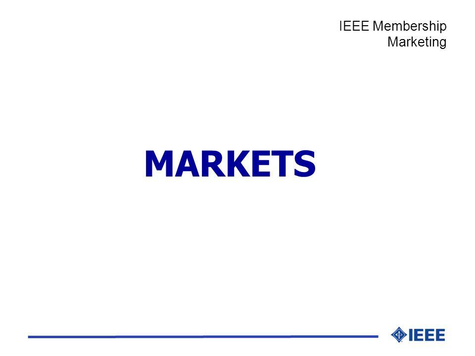 MARKETS IEEE Membership Marketing