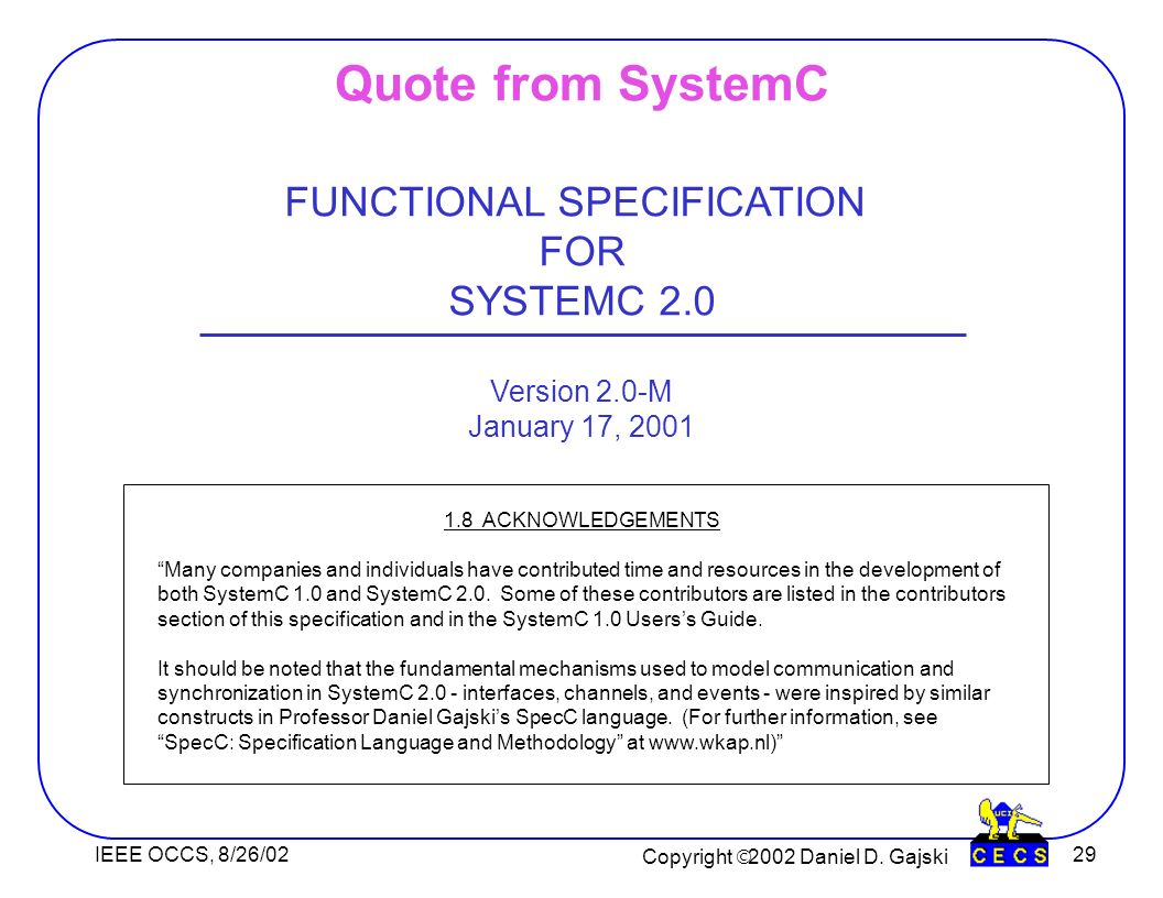 Copyright 2002 Daniel D.
