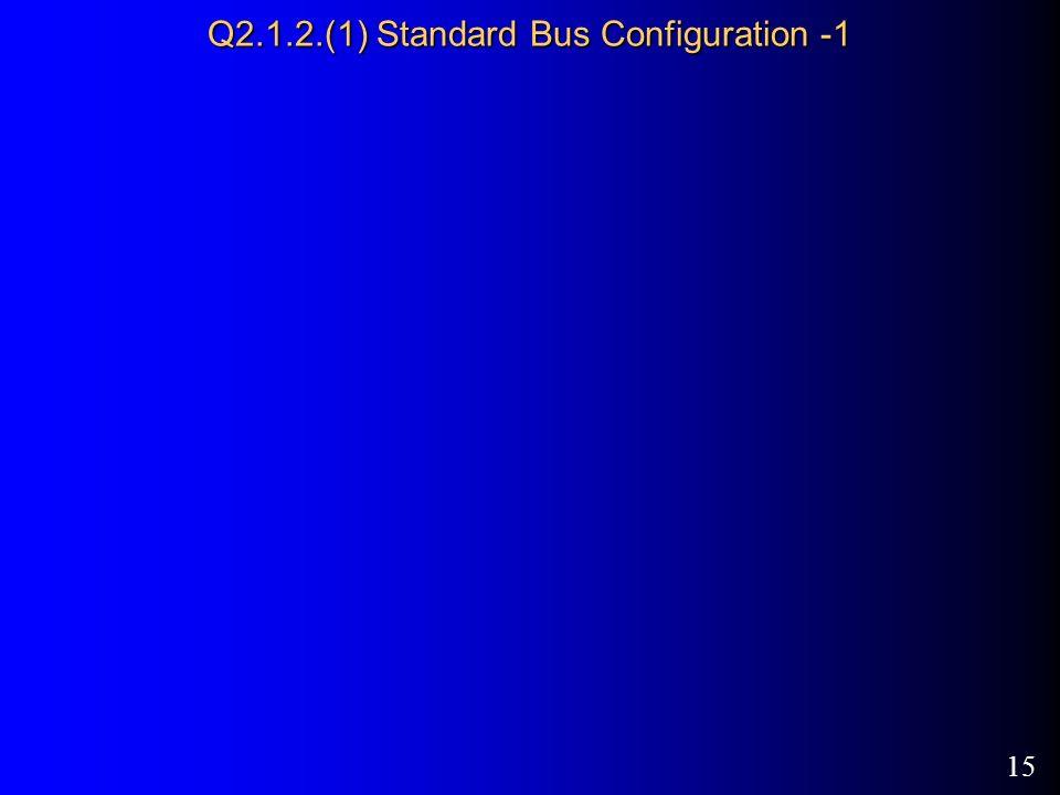 15 Q2.1.2.(1) Standard Bus Configuration -1