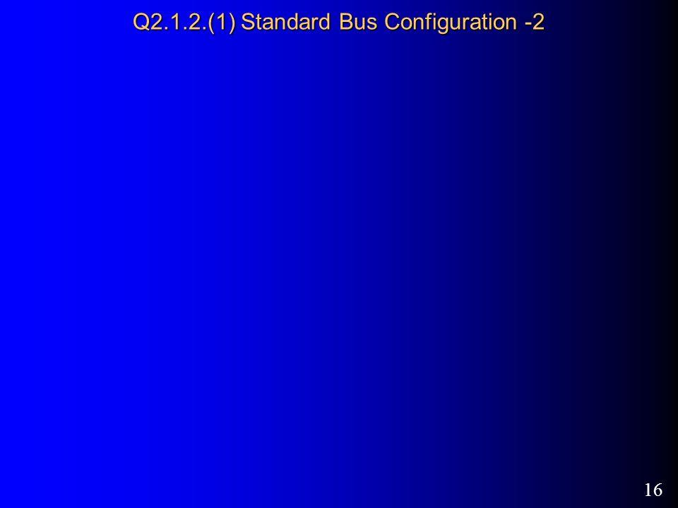 16 Q2.1.2.(1) Standard Bus Configuration -2