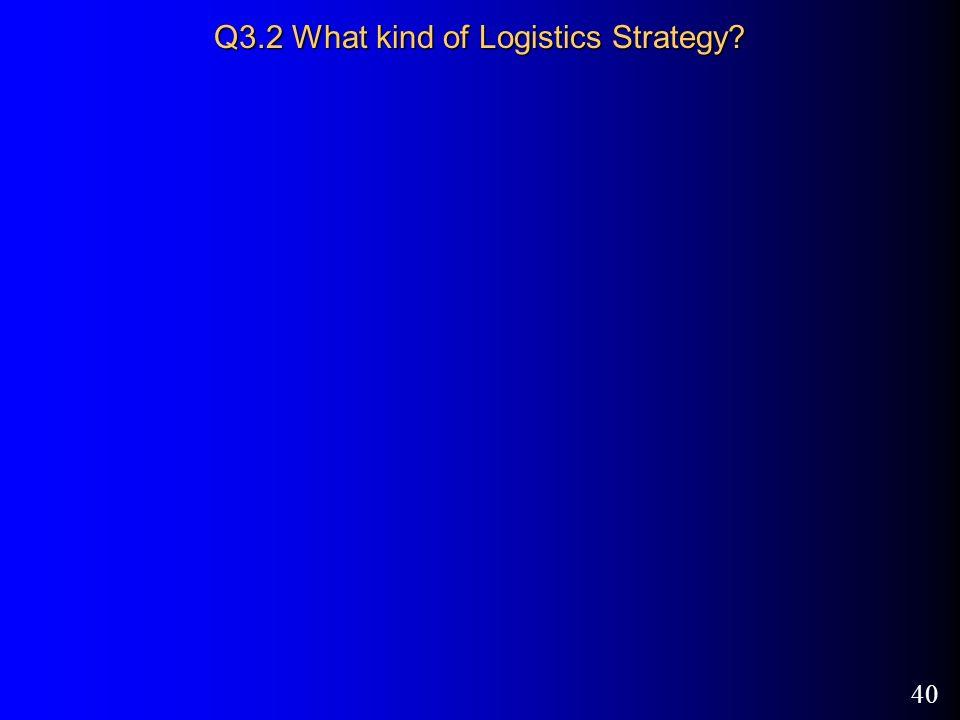 40 Q3.2 What kind of Logistics Strategy