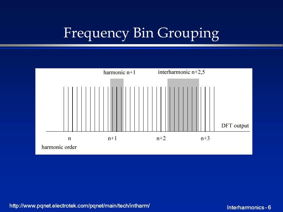 http://www.pqnet.electrotek.com/pqnet/main/tech/intharm/ Interharmonics - 6 Frequency Bin Grouping