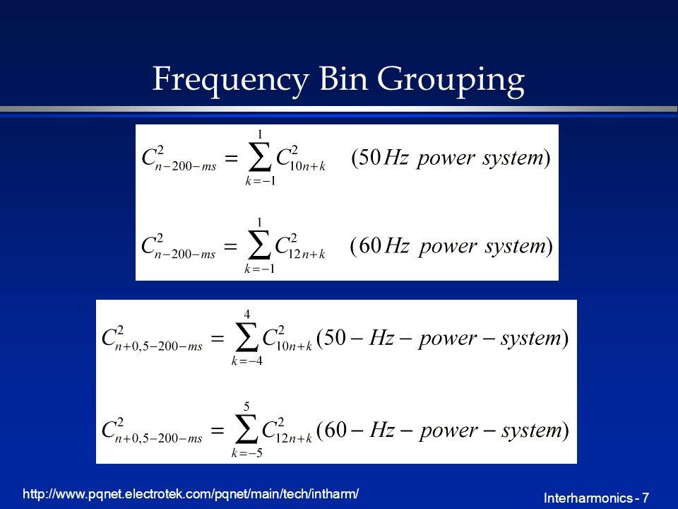 http://www.pqnet.electrotek.com/pqnet/main/tech/intharm/ Interharmonics - 7 Frequency Bin Grouping