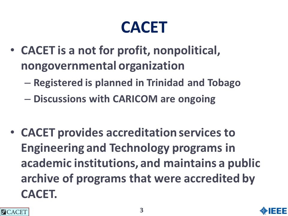 44 CACETs organizational Chart CACET President Board of Directors: Regular Members (incl.