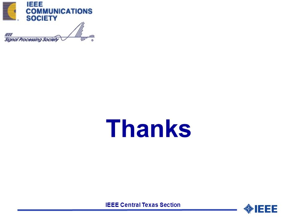 IEEE Central Texas Section Thanks