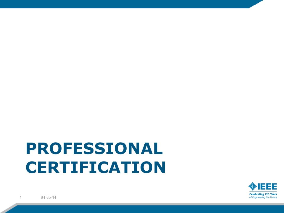 PROFESSIONAL CERTIFICATION 8-Feb-141