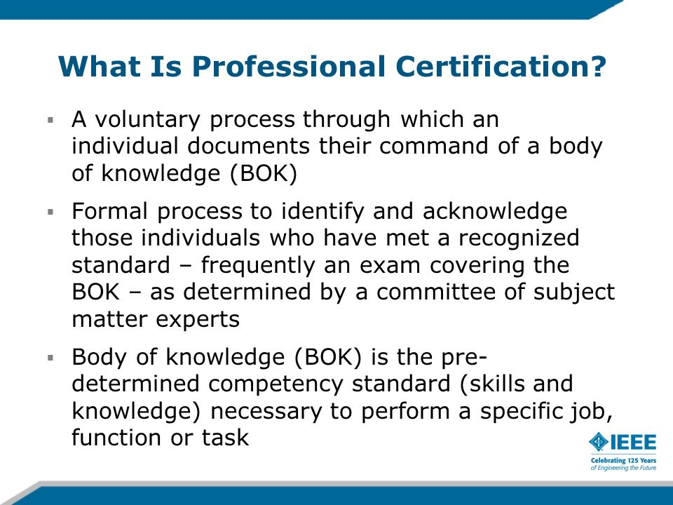 What Is Professional Certification.