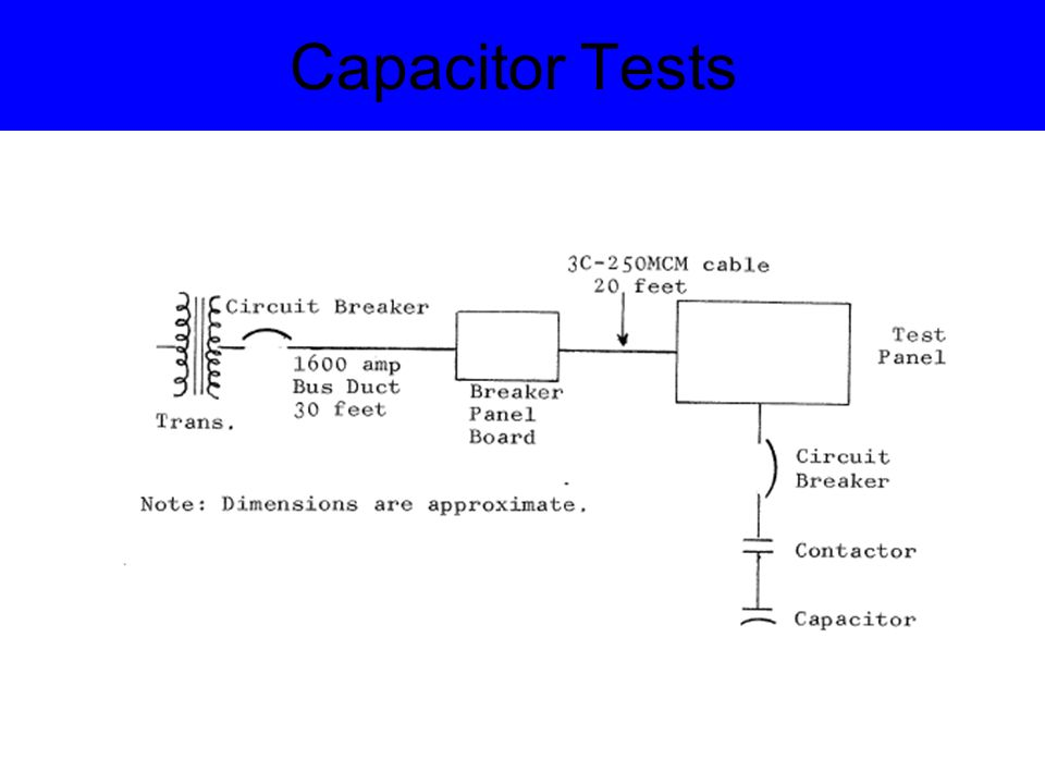 Capacitor Tests