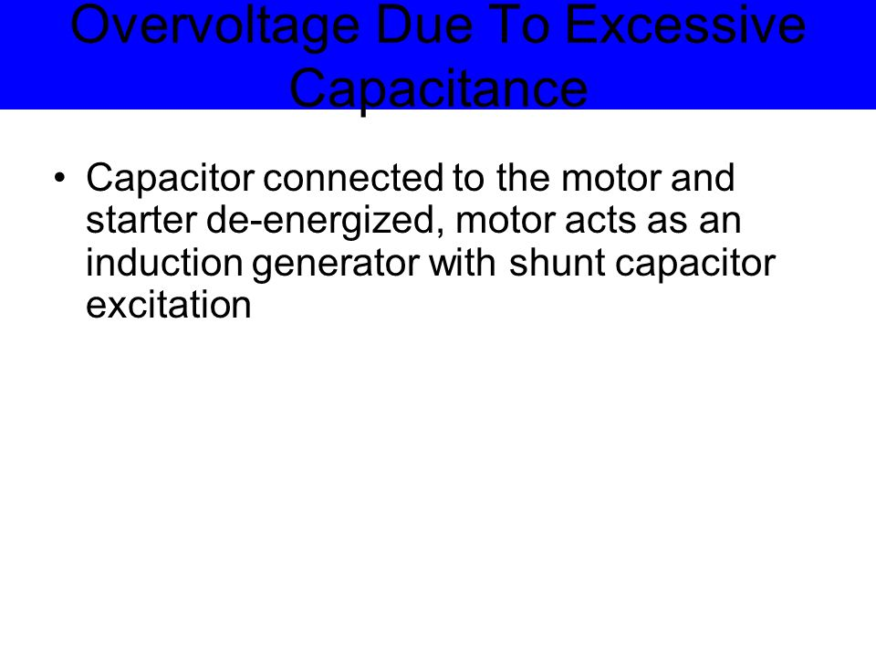 Maximum Voltage Generated Size of capacitor Speed of motor No load characteristics