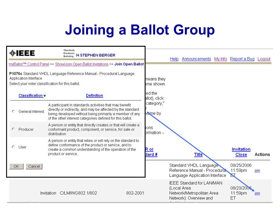 Joining a Ballot Group
