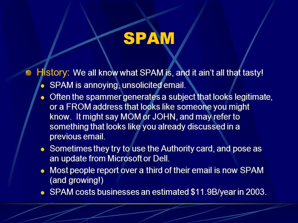 SPAM History: We all know what SPAM is, and it aint all that tasty.