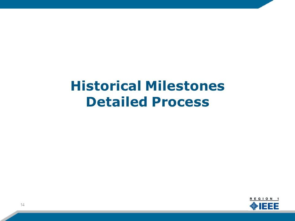 Historical Milestones Detailed Process 14