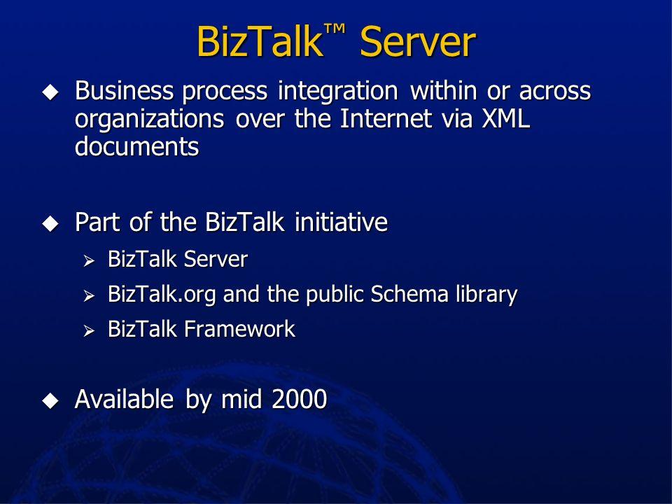 Current BizTalk Architecture Org A Org B Adapter Handler Application Transport App Transport App AdptAdpt Handler Adapter Handler Transport Handler Ad