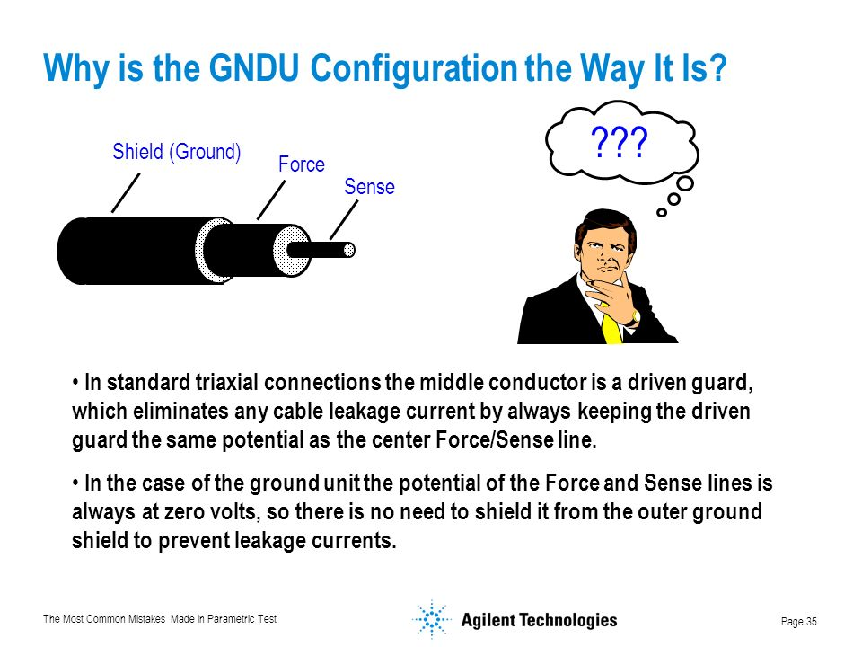 The Most Common Mistakes Made in Parametric Test Page 35 Why is the GNDU Configuration the Way It Is.