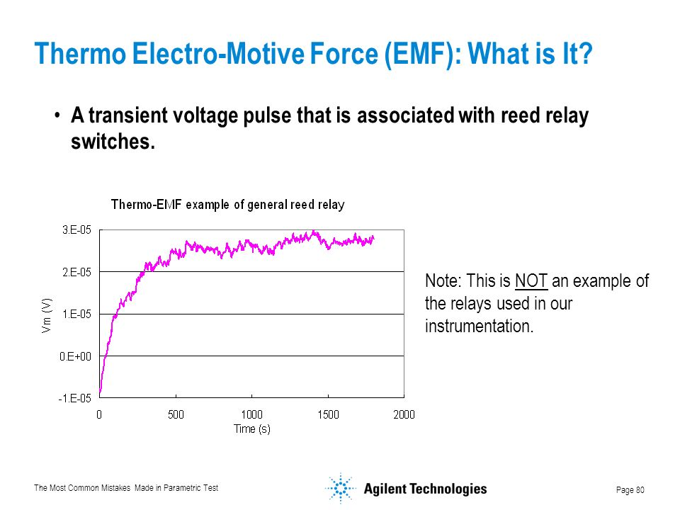 The Most Common Mistakes Made in Parametric Test Page 80 Thermo Electro-Motive Force (EMF): What is It.