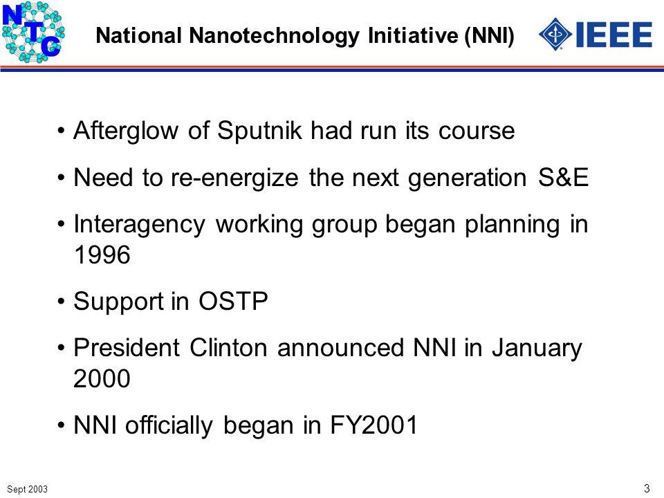 Sept 2003 34 Microelectronics Nanoelectronics Evolutionary Revolutionary Two Paths (Including photonics, optics, magnetics, etc.)