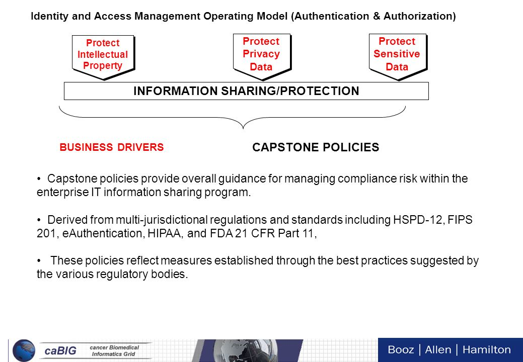6 This effort focuses on the authentication and authorization of the Identity and Access Management Operating Model Focused Standardization Integratio