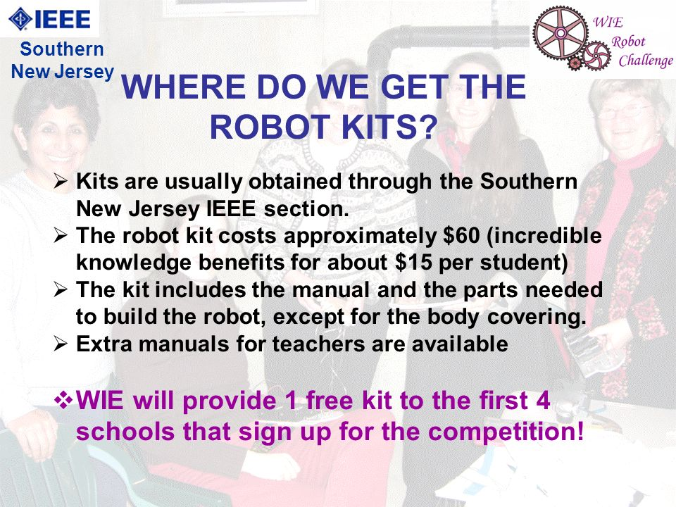 4 Kits are usually obtained through the Southern New Jersey IEEE section.