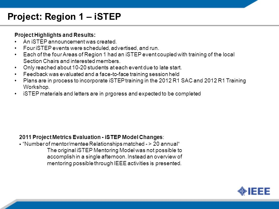Project: Region 1 – iSTEP 23 Project Highlights and Results: An iSTEP announcement was created. Four iSTEP events were scheduled, advertised, and run.