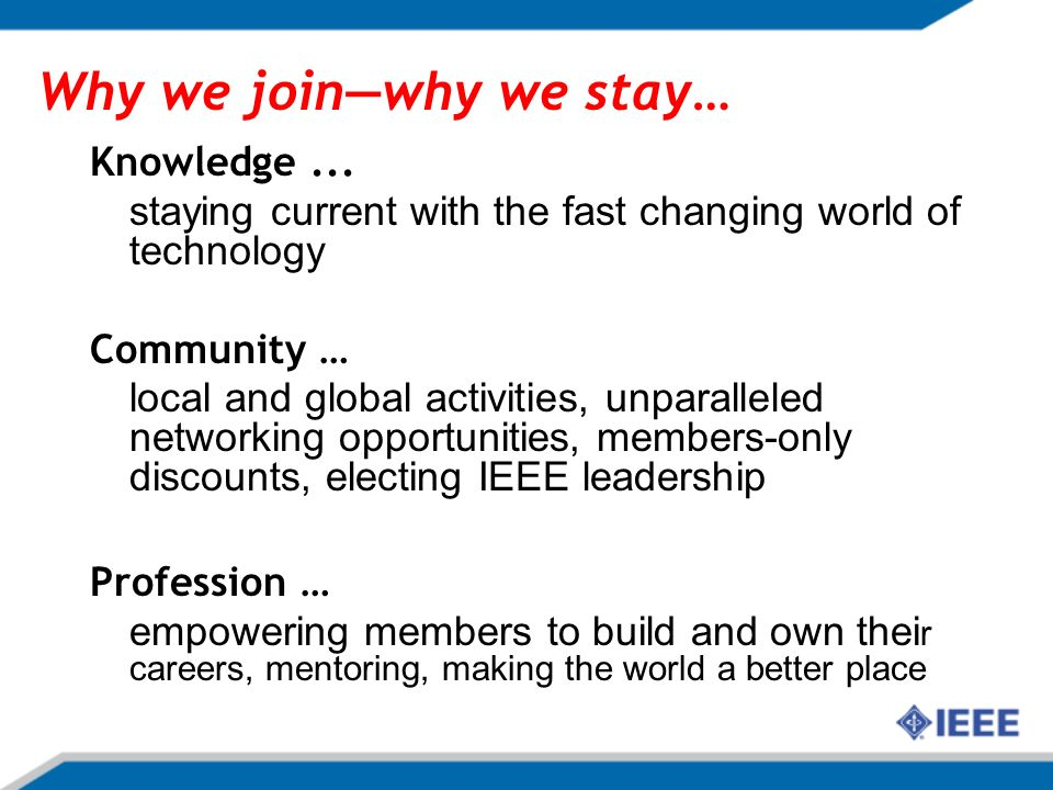 What is the Life of an IEEE member.