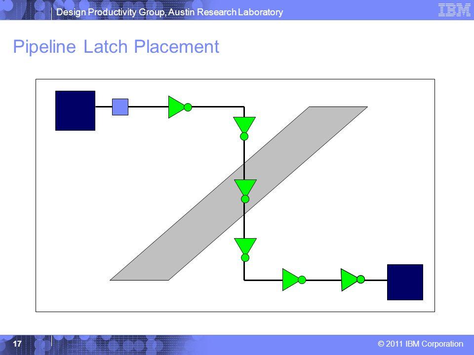 Design Productivity Group, Austin Research Laboratory © 2011 IBM Corporation 17 Pipeline Latch Placement