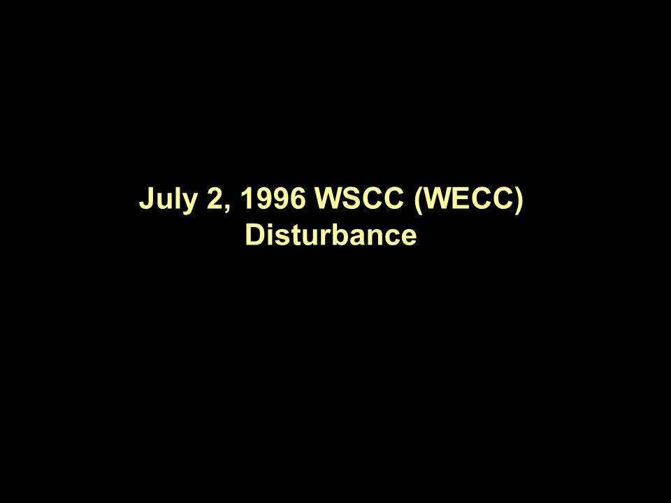 July 2, 1996 WSCC (WECC) Disturbance